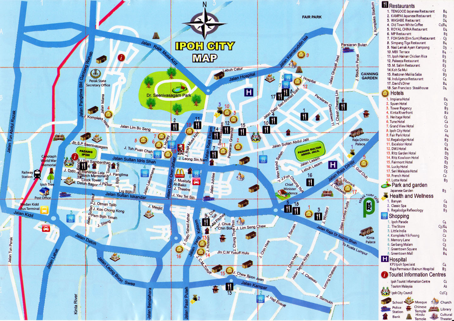 City – Malaysia Tourist Attractions Map